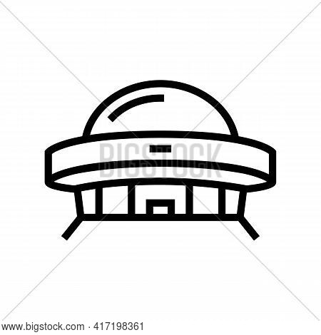 Construction Planetarium Line Icon Vector. Construction Planetarium Sign. Isolated Contour Symbol Bl
