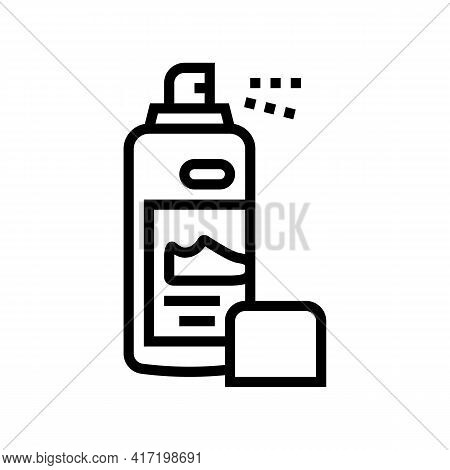 Paint Sprayer Shoe Care Line Icon Vector. Paint Sprayer Shoe Care Sign. Isolated Contour Symbol Blac