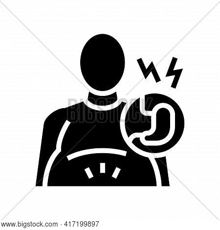 Before Bariatric Line Icon Vector. Before Bariatric Sign. Isolated Contour Symbol Black Illustration