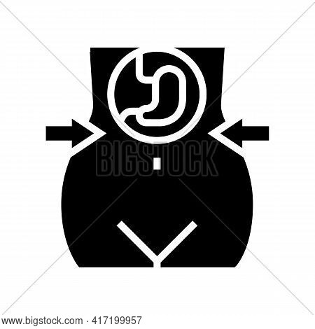 Reducing Stomach For Weight Loss Line Icon Vector. Reducing Stomach For Weight Loss Sign. Isolated C