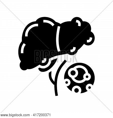 Fatty Liver Dystrophy Disease Line Icon Vector. Fatty Liver Dystrophy Disease Sign. Isolated Contour