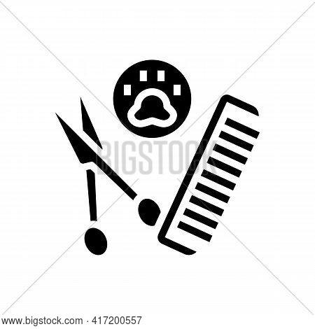 Grooming Accessories Dog Line Icon Vector. Grooming Accessories Dog Sign. Isolated Contour Symbol Bl