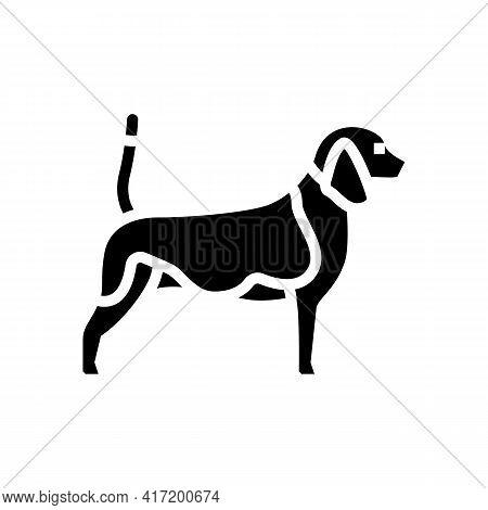 Beagle Dog Line Icon Vector. Beagle Dog Sign. Isolated Contour Symbol Black Illustration