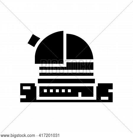 Observatory Planetarium Line Icon Vector. Observatory Planetarium Sign. Isolated Contour Symbol Blac