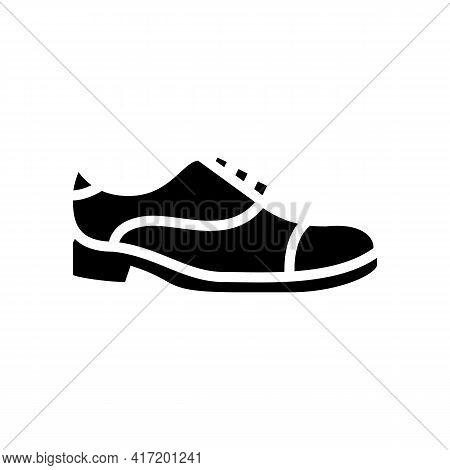 Leather Shoe Care Line Icon Vector. Leather Shoe Care Sign. Isolated Contour Symbol Black Illustrati