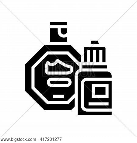 Stain Remover Shoe Care Line Icon Vector. Stain Remover Shoe Care Sign. Isolated Contour Symbol Blac
