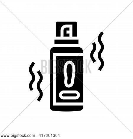 Deodorant Shoe Care Line Icon Vector. Deodorant Shoe Care Sign. Isolated Contour Symbol Black Illust