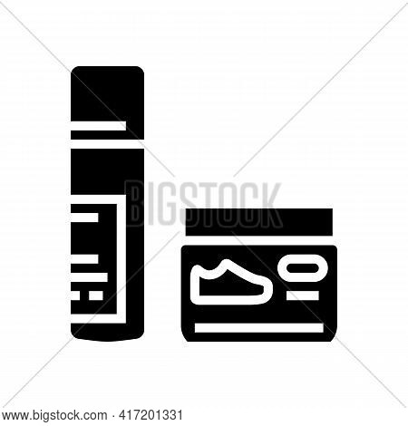 Cream Paste Shoe Care Line Icon Vector. Cream Paste Shoe Care Sign. Isolated Contour Symbol Black Il