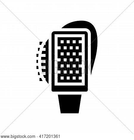 Multifunctional Brush Shoe Care Line Icon Vector. Multifunctional Brush Shoe Care Sign. Isolated Con