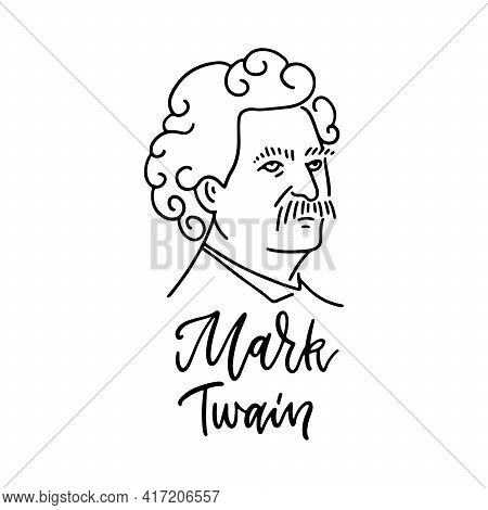 Mark Twain - Samuel Langhorne Clemens- An American Author And Humorist Of The 19th - 20th Century. S