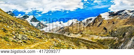 Parnorama Of The Swiss Alps Near Zermatt
