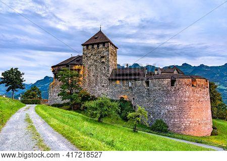 Vaduz Castle In The Principality Of Liechtenstein
