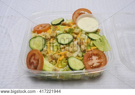 A Very Colorful Tossed Green Garden Salad.