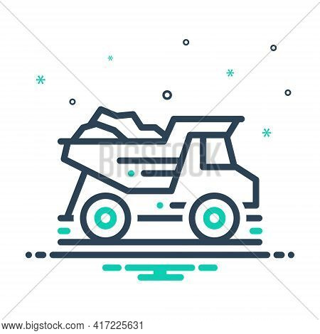 Mix Icon For Dump-truck  Dump Truck   Garbage-truck Quarry