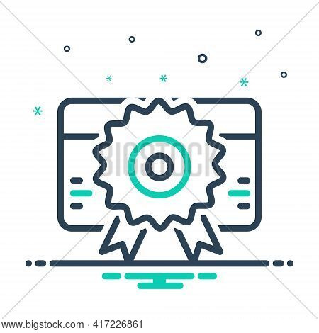 Mix Icon For Licence Identification  Information Identity Certificate