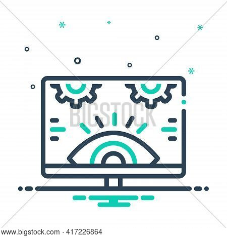 Mix Icon For Monitoring Investigation Technology Surveillance  Supervision