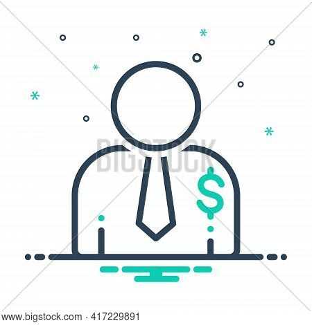 Mix Icon For Salesperson  Salesman Person Agent