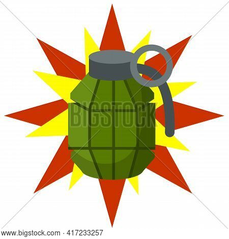 Weapons And Bombshell. Red Flash. Soldier's Equipment And Ammunition. Element Of Modern Warfare. Car