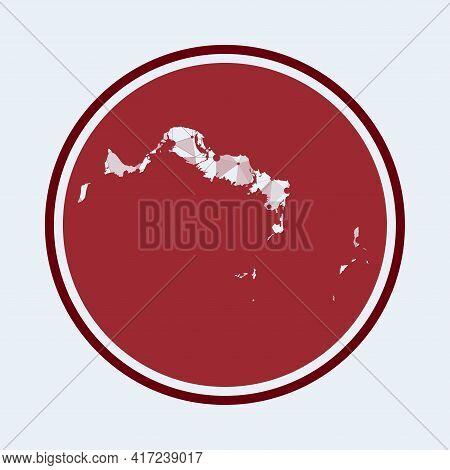 Turks And Caicos Islands Icon. Trendy Tech Logo Of The Island. Geometric Mesh Round Design. Technolo
