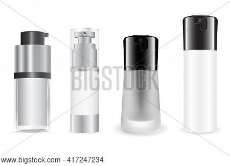 Silk Cosmetic Foundation Bottle. Liquid Foundation Cream Product Design. Luxury Concealer, Premium S