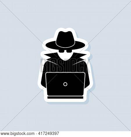 Incognito Sticker. Incognito Logo. Browse In Private. Spy Agent, Secret Agent, Hacker. Vector On Iso