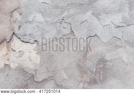 Concrete Wall, Cement Texture, Gray Grunge Dirty Floor, Abstract Background, Urban Decorative Design