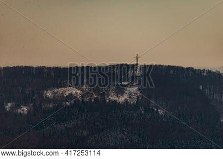 Photo Of Pilsko Mountain In Beskidy, Poland. View From Zar Mountain (pol. Góra Żar)