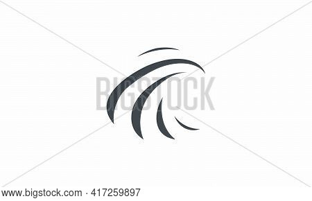 Abstract Swoosh Vector Illustration On White Background. Creative Icon.