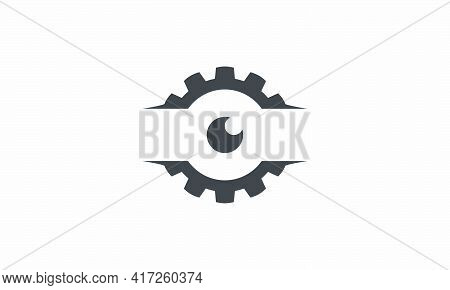 Look See Gear Vector Illustration On White Background. Creative Icon.