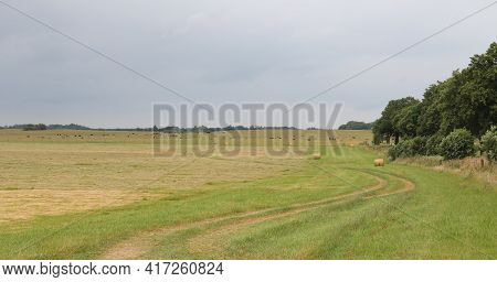 Fields In The Countryside In Summer During Bad Weather