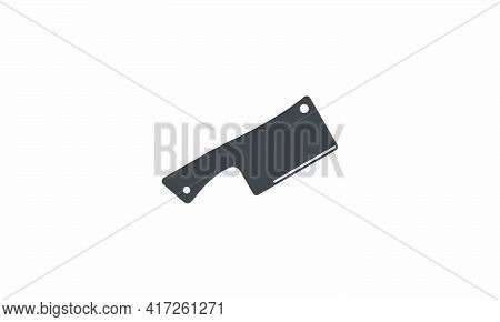 Cleaver Vector Illustration On White Background. Creative Icon.