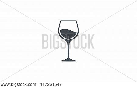 Drink Winery Vector Illustration On White Background. Creative Icon.