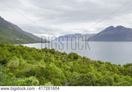 Impression Around The Lake Wakatipu At The South Island In New Zealand