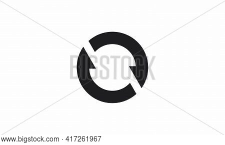Sync Recycle Vector Illustration On White Background