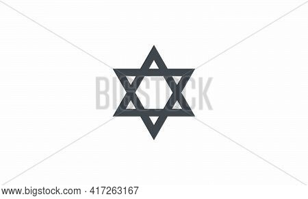 Judaism Icon Symbol Design Vector Illustration On White Background