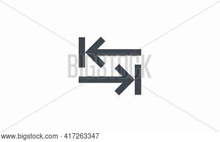 Tab Key Arrow Icon. Isolated On White Background. Vector Illustration.