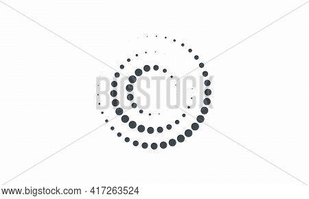 Halftone Twist. Vector Illustration.isolated On White Background.