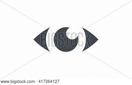 Eyesight Icon. Isolated On White Background. Eye Graphic Vector Illustration.