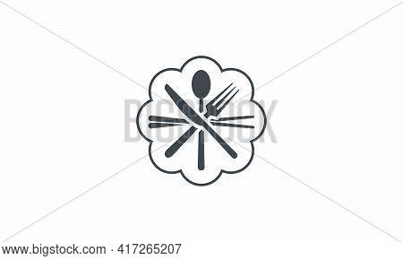 Crossed Silverware Icon. Chopsticks Spoon Fork Knife Design Flat Vector.