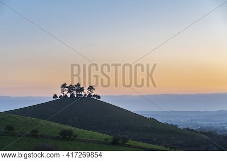 Beautiful Vibrant Sunrise Landscape Image Of Colmer's Hill In Dorset On A Spring Morning