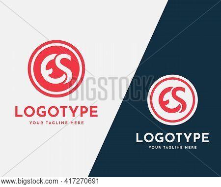Letter Es, Se Initial Logo Or, Icon Design Template. Creative, Minimal, And Modern Monogram Symbol.