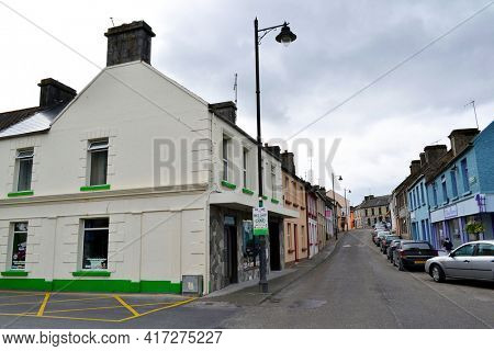 CONG, COUNTY MAYO, IRELAND - 18 MAY 2011: Street scene of the quaint town made famous by the film The Quiet Man.