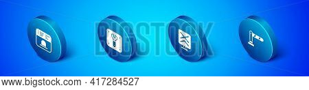 Set Isometric Ticket Office To Buy Tickets, Railroad Crossing, Railway Barrier And Repair Railway Ic