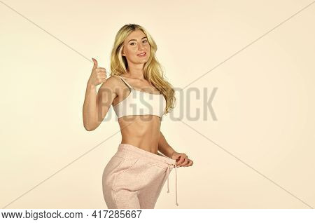 Satisfied Fitness Lady. Dieting And Fitness. Girl Slim Belly. Slim Fit Attractive Woman. Girl Diet L