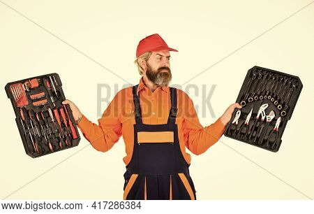All You Need. Electrician Tools. Professional Equipment. Dream Of Handyman. Screwdrivers Set. Man Ca