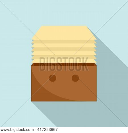 Stack Documents Icon. Flat Illustration Of Stack Documents Vector Icon For Web Design