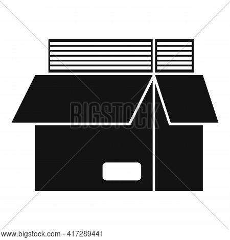 Full Documents Box Icon. Simple Illustration Of Full Documents Box Vector Icon For Web Design Isolat