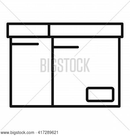 Documents Carton Box Icon. Outline Documents Carton Box Vector Icon For Web Design Isolated On White