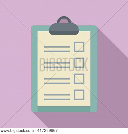 Check To-do List Icon. Flat Illustration Of Check To-do List Vector Icon For Web Design