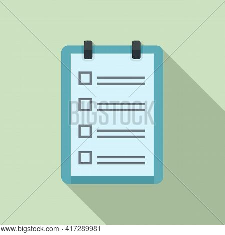 To-do List Pin Icon. Flat Illustration Of To-do List Pin Vector Icon For Web Design